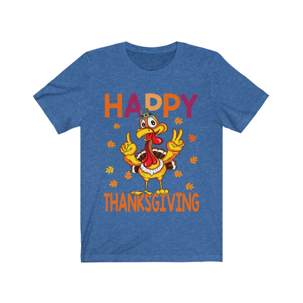 Happy Thanksgiving Unisex Jersey Short Sleeve Tee