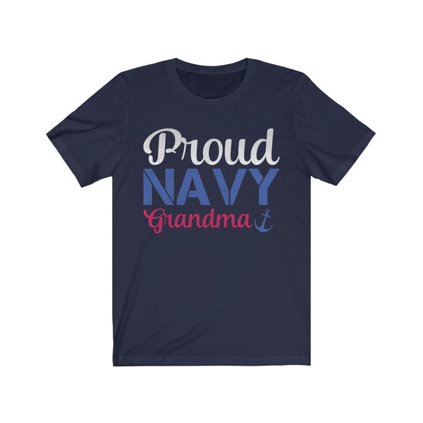 Proud Navy Grandma Jersey Short Sleeve Tee