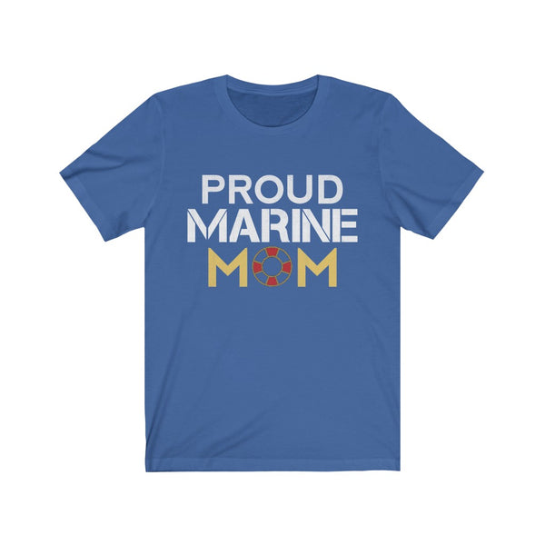 Proud Marine Mom Jersey Short Sleeve Tee