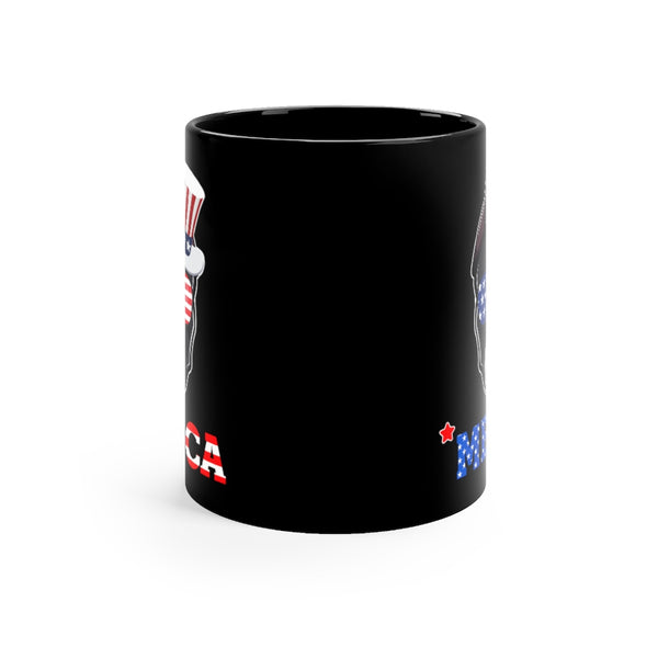 Staffordshire Bull Black Mug 11oz