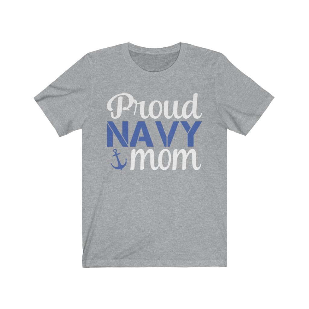 Proud Navy Mom Jersey Short Sleeve Tee
