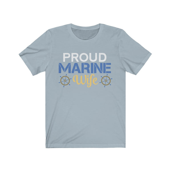 Proud Marine Wife Jersey Short Sleeve Tee