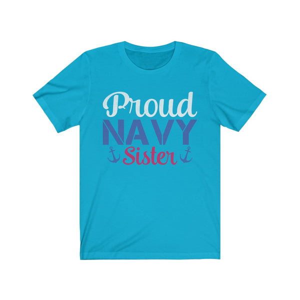 Proud Navy Sister Jersey Short Sleeve Tee