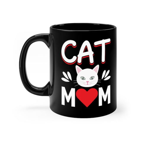 Cat Mom Mug 11oz Printify