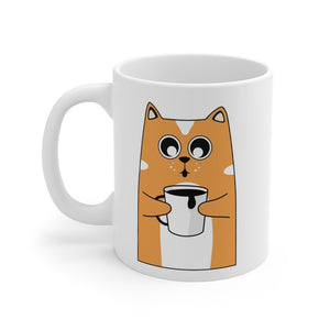 Coffee Meow Mug 11oz Printify