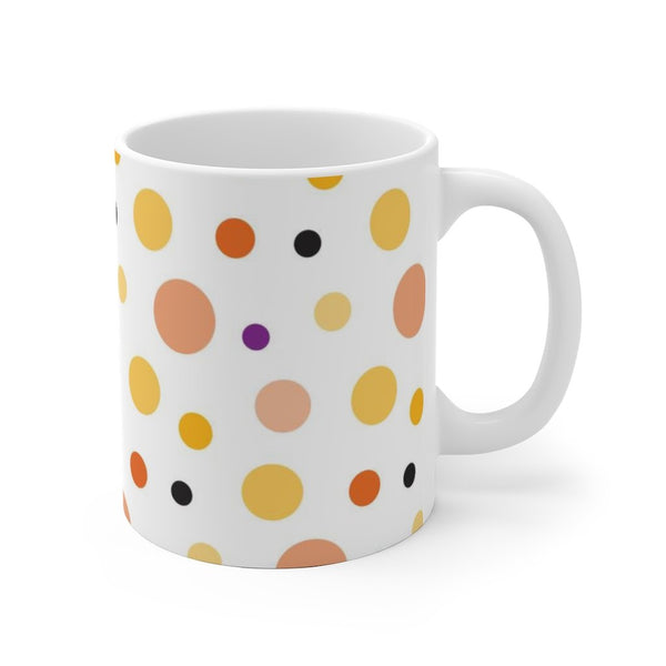 Dots White Ceramic Mug Printify