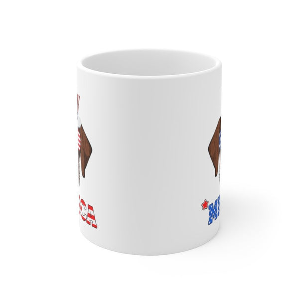 German Wiredhaired  White Ceramic Mug Printify