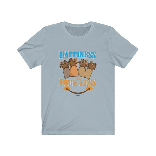 Happiness Has Four Legs Unisex Jersey Short Sleeve Tee Printify