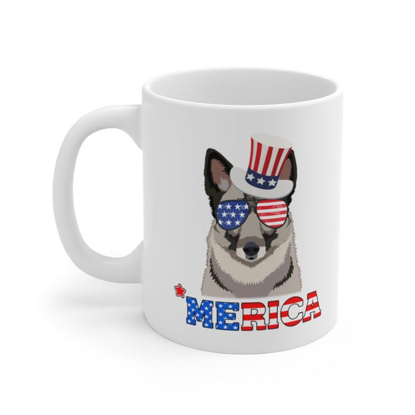 Norwegian Elkhound White Ceramic Mug Printify