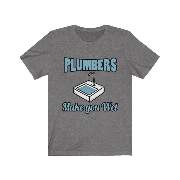 Plumbers Make You Wet Jersey Short Sleeve Tee Printify