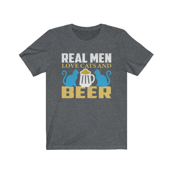 Real Men Love Cats And Beer Unisex Jersey Short Sleeve Tee Printify