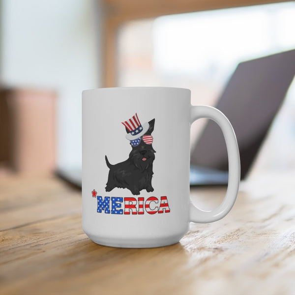 Scottish Terrier White Ceramic Mug Printify