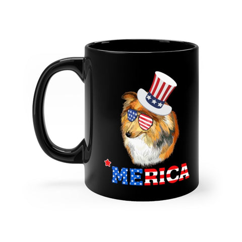Shetland Sheep Dog Black Mug 11oz Printify