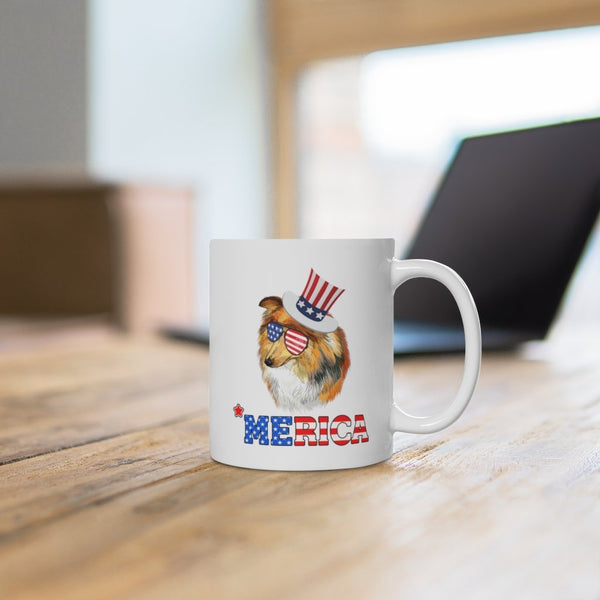 Shetland Sheep Dog White Ceramic Mug Printify
