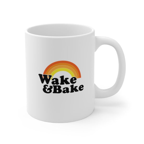 Wake And Bake Mug 11oz Printify