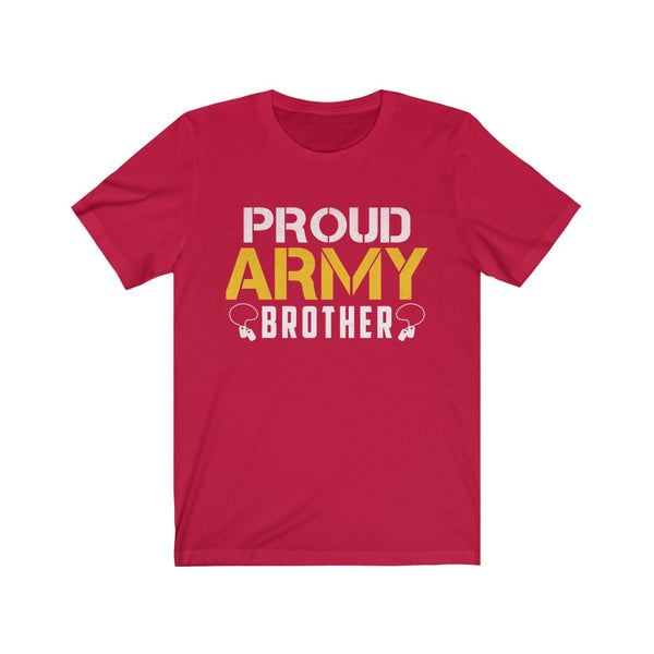 Proud Army Brother Unisex Jersey Short Sleeve Tee