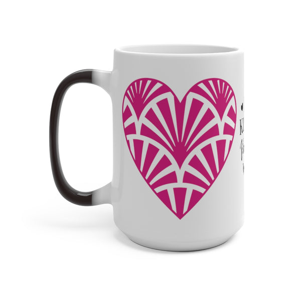 Love Kisses Valentine Wishes Color Changing Mug - Magic Mug - Unique Coffee Mug - Ceramic Coffee Mug - Valentines Day Mug - Best Friend Gift