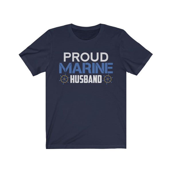 Proud Marine Husband Unisex Jersey Short Sleeve Tee