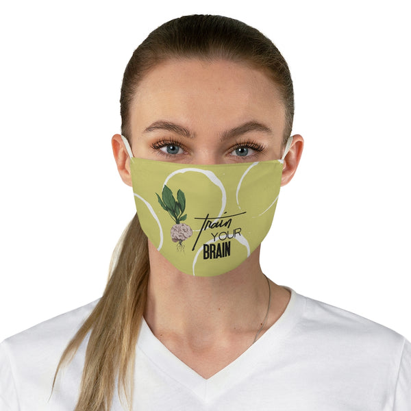Train Your Brain Fabric Face Mask