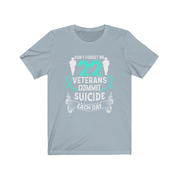 Veterans Commit Suicide Each Day Unisex Jersey Short Sleeve Tee