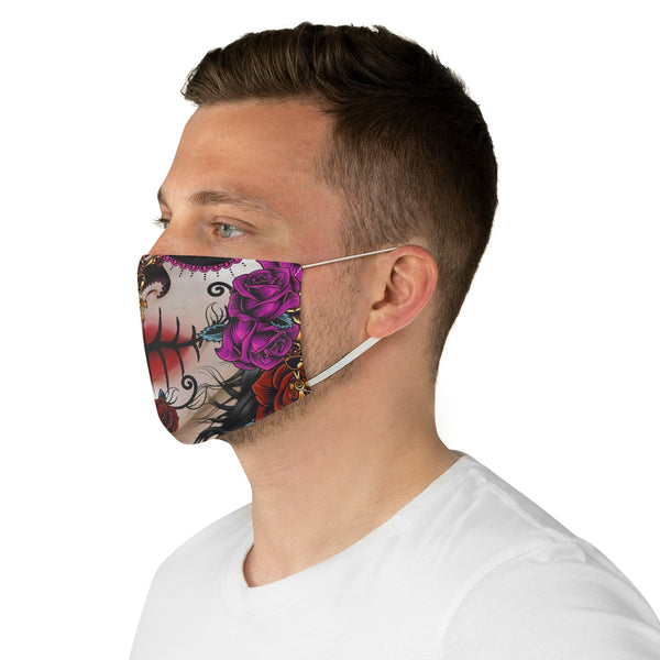 Sugar Skull Fabric Face Mask