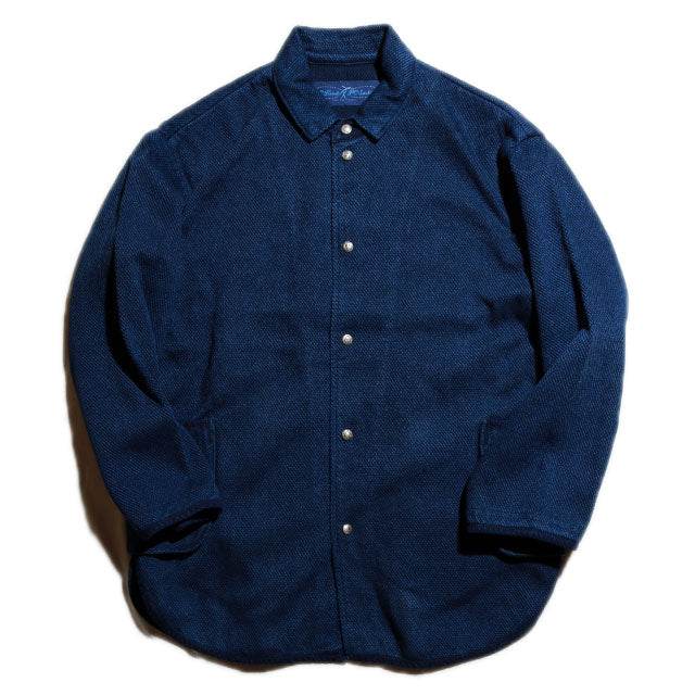 Porter Classic PC KENDO SHIRT JACKET W/SILVER BUTTONS ポータークラシック ケンドー シャツジャケット(BLUE)[PC-001-1421]