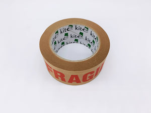 Brown Kraft Paper Recyclable Fragile Parcel Tape (50m x 50mm)