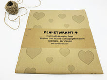 Load image into Gallery viewer, Hearts Gift Wrap - Recycled Kraft Paper