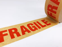 Load image into Gallery viewer, Brown Kraft Paper Recyclable Fragile Parcel Tape (50m x 50mm)
