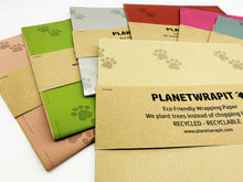 Load image into Gallery viewer, Paw Prints Gift Wrap - Recycled Kraft Paper