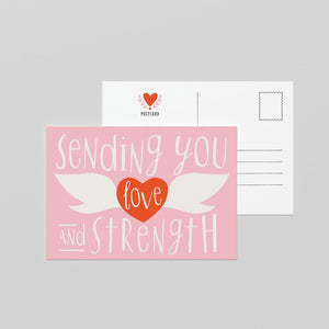 Love and strength Postcard