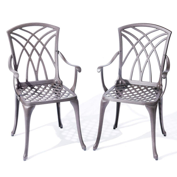 Aluminium Garden Bistro Chairs - set of 2