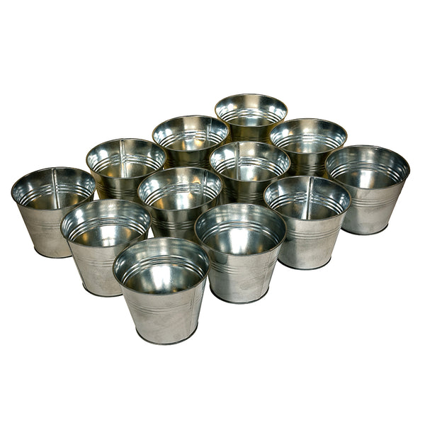 The Zinc Pot Set - 12 Pots