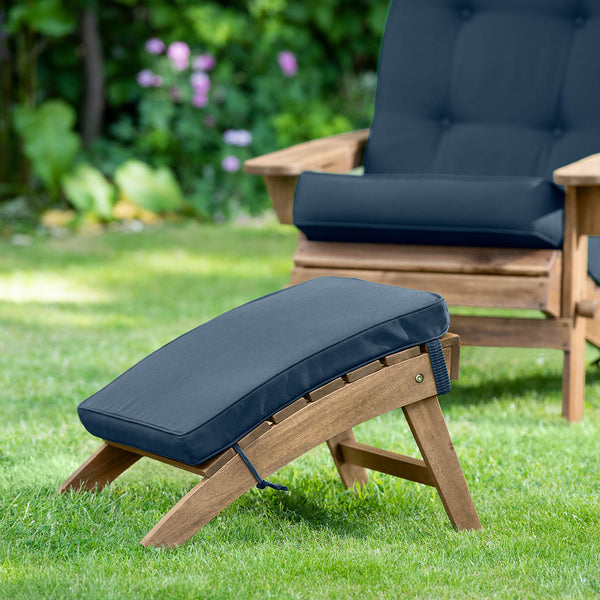 Adirondack Footstool Cushion Navy