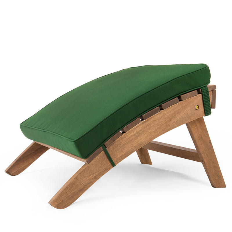 Adirondack Footstool Cushion Evergreen