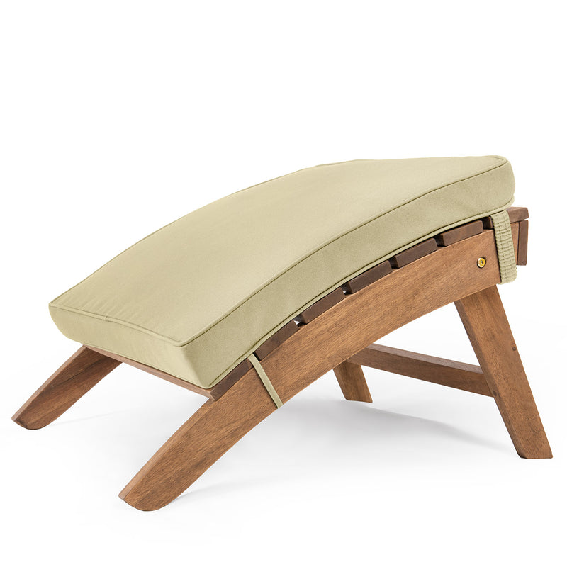 Adirondack Footstool Cushion Warm Beige