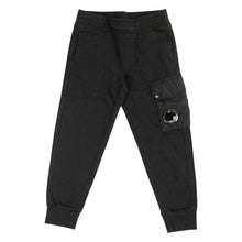 Load image into Gallery viewer, CP Company Junior Lens Jogging Bottoms In Black