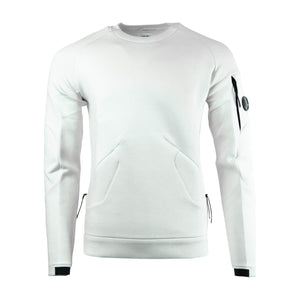 CP Company Spayser Lens Sweatshirt In White