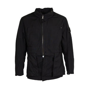 Stone Island Shadow Project Divided Field Jacket With Stowable Split Hood & Encase Panel In Black 41001