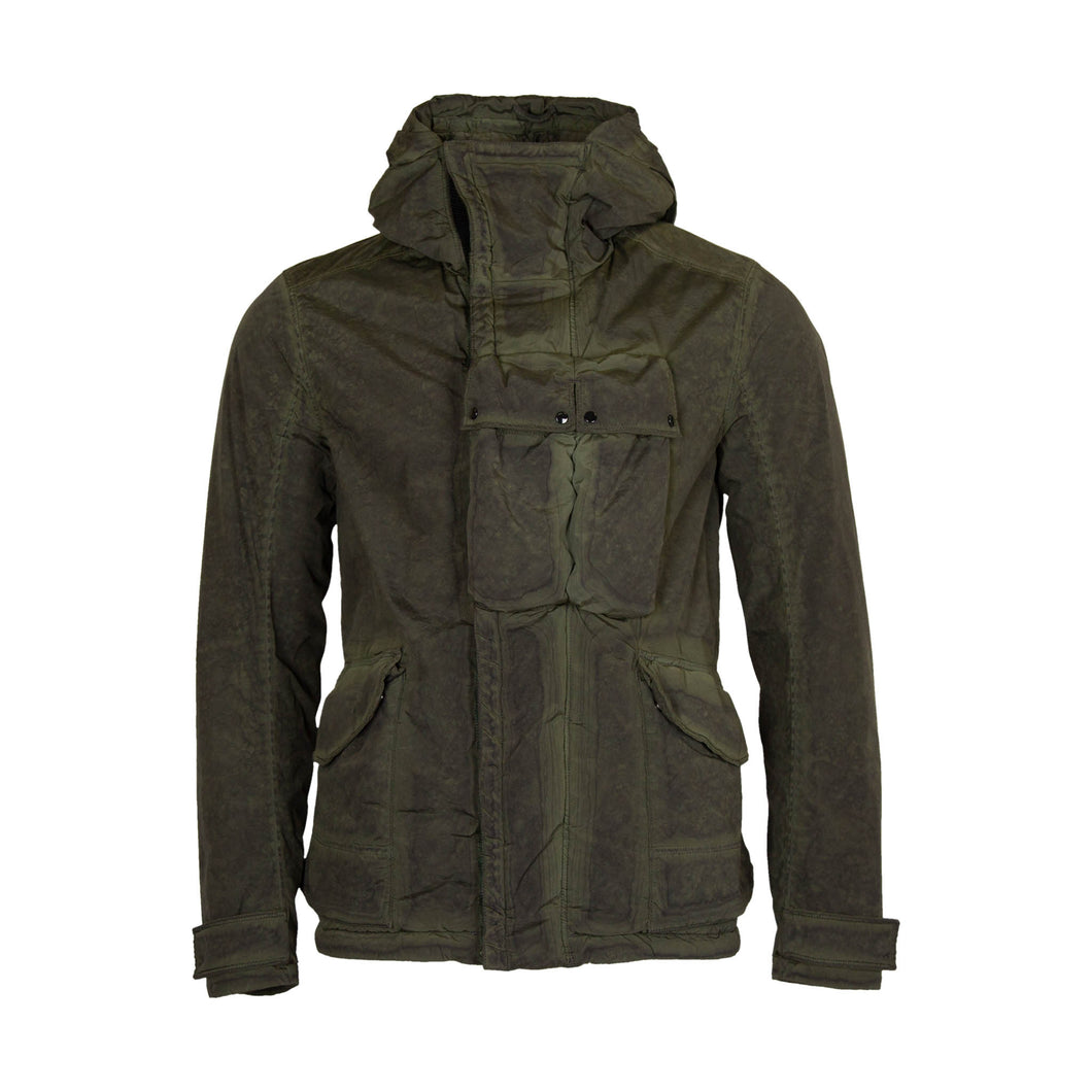 CP Company Nycra Re-Colour Utility Goggle Jacket In Cloudburst