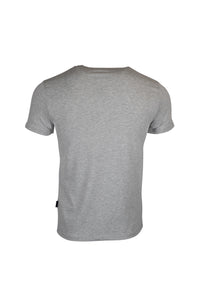 Aquascutum Check Crest Logo T-shirt In Grey