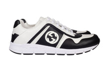 Load image into Gallery viewer, Gucci Leather Low Top Trainers In Black & White