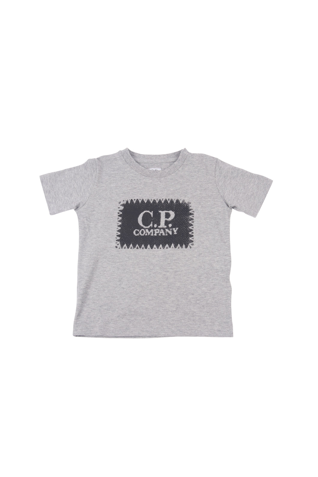 CP Company Junior Stitch Logo T-shirt In Grey