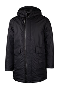 C.P. Company Padded Micro-M Long Down Jacket In Black * NEW SEASON *