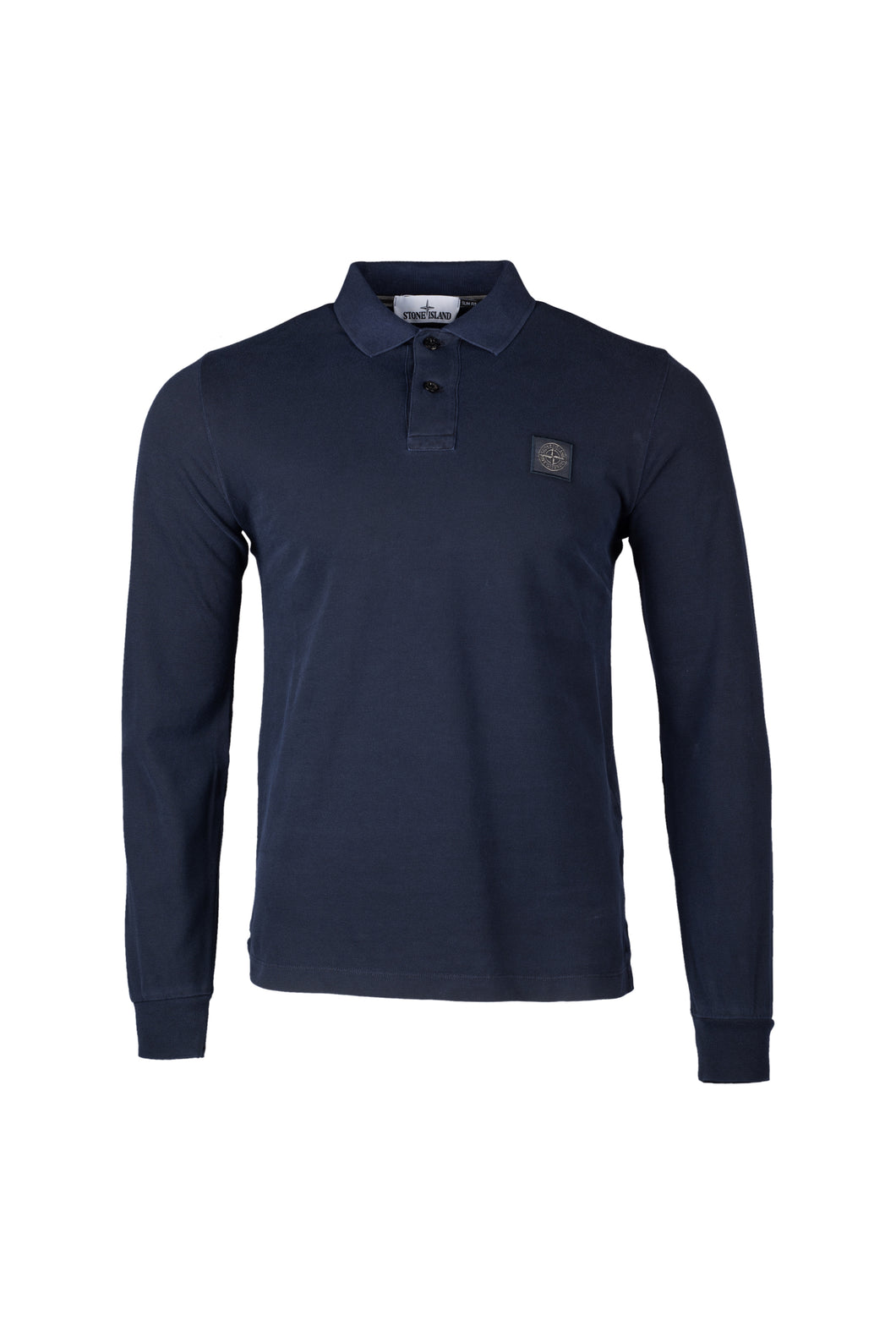 Stone Island Long Sleeve Polo Shirt In Navy 2SS67