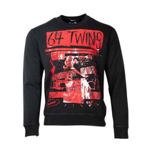 "Load image into Gallery viewer, Dsquared2 "" 64 Twins "" Crewneck Sweatshirt In Black"