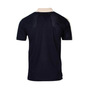 Gucci Polo With Interlocking GG In Navy