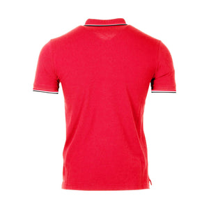 Moncler Maglia Short Sleeve Polo Shirt In Red