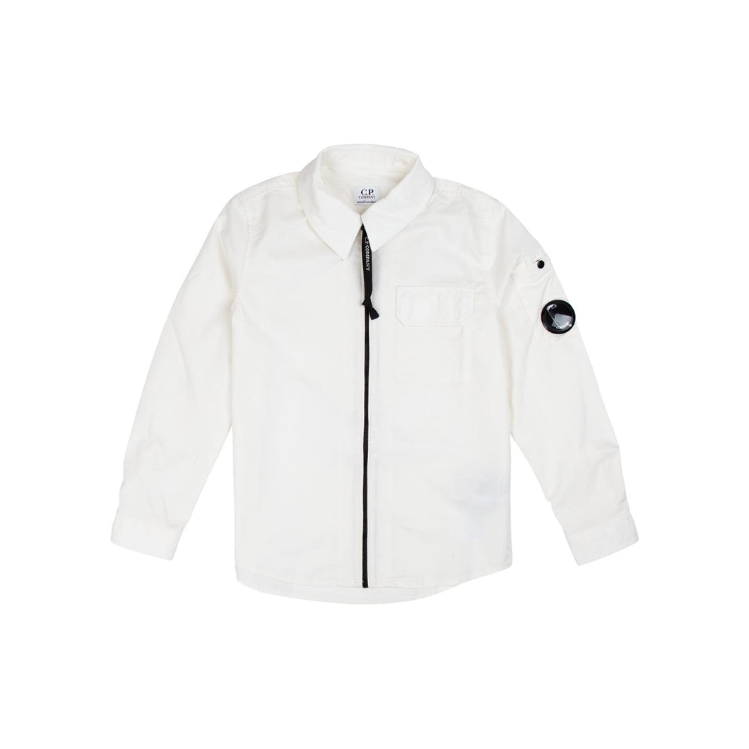 Company Junior Gabardine Overshirt In White