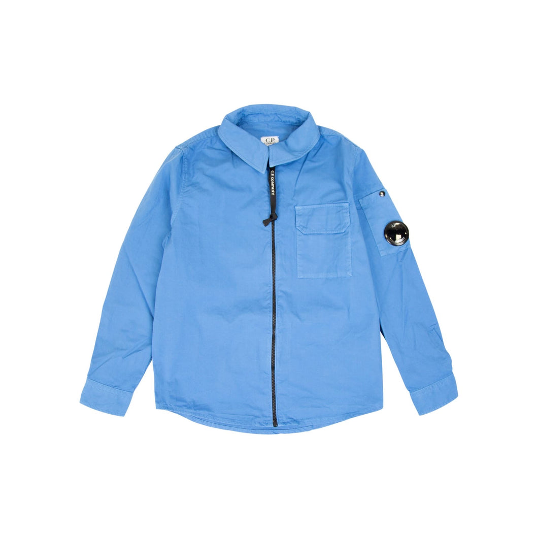 CP Company Junior Gabardine Overshirt In Blue